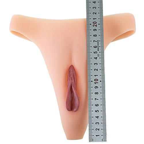 Fake Vagina Bragas de silicona Camel Toe Control String para Crossdresser Transgénero Shemale Cosplay Hombres Oculta Gaff Panty