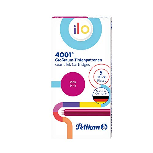 Pelikan 301510 4001 Ilo - Cartucho de tinta (5 cartuchos en caja plegable), color rosa