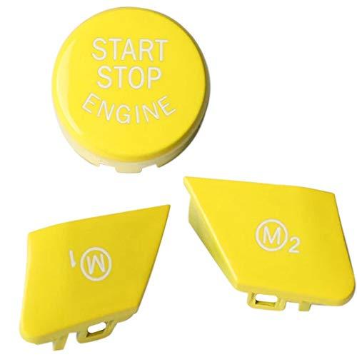 Timagebreze BotóN Amarillo del Interruptor de Arranque y Parada del Motor Volante M1 M2 BotóN de Interruptor para - M2 M3 M4 M5 M6 X5M X6M M Sport