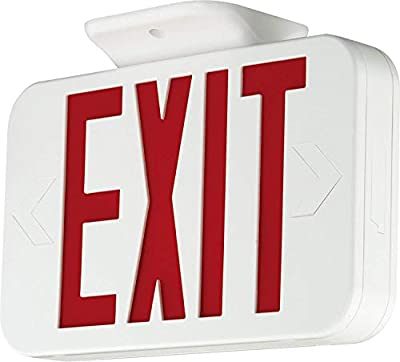 YaoKuem LED Exit Sign Emergency Lighting Fixture, Double Face Exit with Batteries Back Up, UL Rated, 120-277V