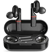 True Wireless Earbuds Bluetooth 5.0 Headphones in-Ear TWS Mini Headset for Sport Deep Bass Stereo Earphones HD Sound Waterproof Noise Cancelling Mic 30-48 Hours Playtime Black