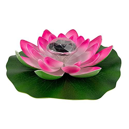 POHOVE Lotusblüten-Licht, künstliche schwimmende Lotusblumen, Solar-Licht, Lotusblüte, schwimmende Pool-Licht, LED, wasserdicht, schwimmende Lotus-Licht, für Garten, Pool, Teich, Dekoration (Pink)