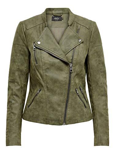 Only Onlava chaqueta Biker cuero sintético mujer