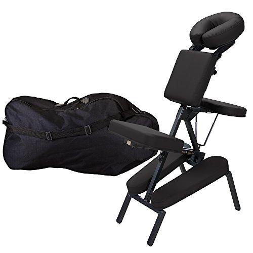 Earthlite INNER STRENGTH Chaise de Massage Portable Element - Fauteuil de massage thérapeutique Tattoo Spa incl. Appui-tête et étui de transport réglables de luxe - 100% PU (seulement 7kg)