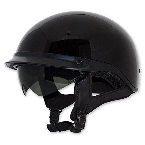 ZOX ST-235A 'Roadster DDV' Gloss Black Motorcycle Half Helmet - Large