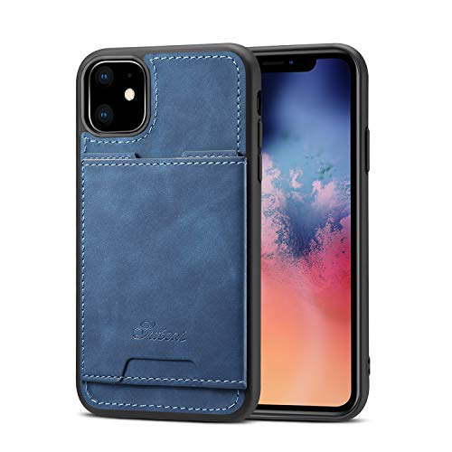 Case for iPhone 11 Apple Lightweight Cover,TACOO Soft Pu Leather Thin Simple Protective Card Slot Durable Kickstand Sturdy Women Boy Shell