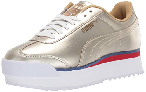 PUMA Womens Roma Amor Mixmetal Lace Up Sneakers Shoes Casual - Gold - Size 7 B