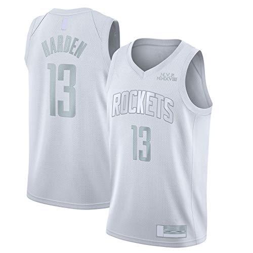 OYFFL LBJ Sudadera Harden Camiseta de baloncesto Houston Top sin mangas Rockets Mesh #13 MVP Swingman Jersey Blanco - Declaración Edición-M