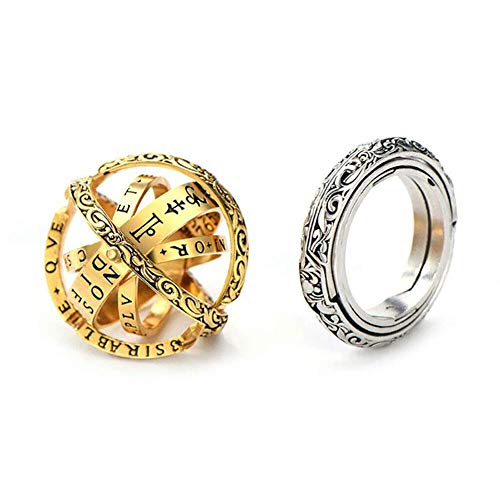 2 Pcs Astronomical Finger Foldable Ring Astronomical Sphere Ball Ring...