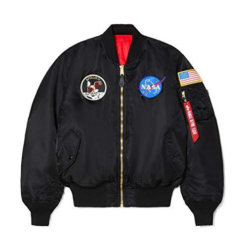 Alpha Industries Men's Apollo MA-1 Flight Jacket (S, Black)