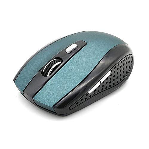 L-yxing Obra de Arte Radio Profesional Radio Mouse con EL Receptor USB 2000 10M Ratón óptico de Trabajo Llaves de Alta Durabilidad (Color : Blue)