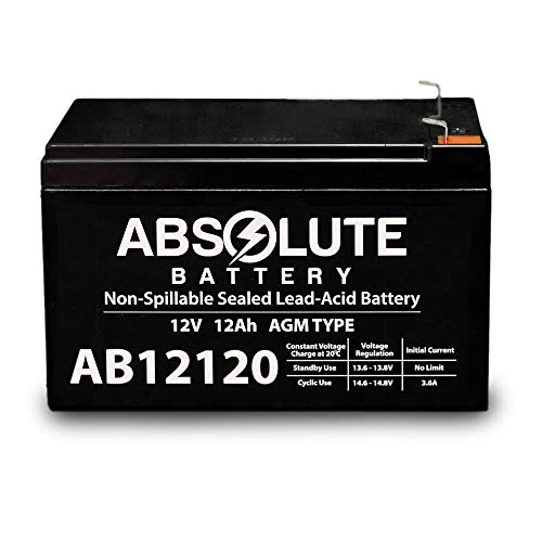 AB12120 12V 12AH F2 Replacement Battery for Werker WKA6-12F2