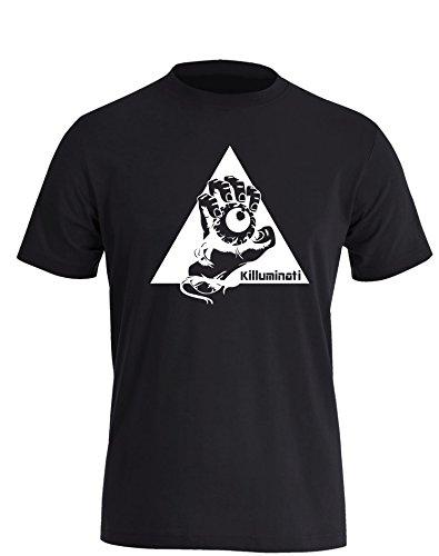 Illuminati Killuminati Faust - Herren T-Shirt Schwarz - Weiß in Größe M