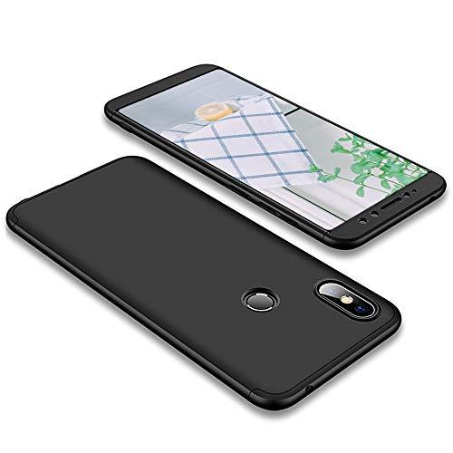 Dyluck Cover Xiaomi Redmi S2, Custodia Rigida Opaco Colorate Retro Duro Plastica Guscio per Xiaomi Redmi S2 Trasparente Glitter Case AntiGraffio Protezione Bumper Creativo Telefono Mat Donna Nero