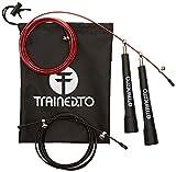 TrainedTo Cuerda para Salto de Velocidad con Cuerda de Repuesto Extra –...