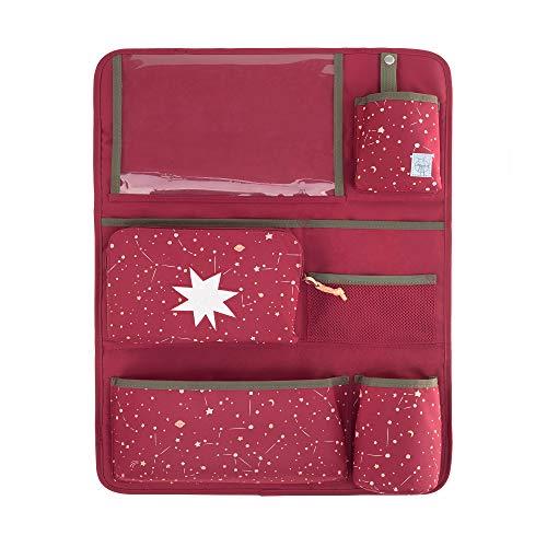 LÄSSIG Autoorganizer Autorücksitzorganizer Rücksitztasche mit Tablet Fach für Auto zum Hängen zusammenklappbar/Magic Bliss Girls, 55 cm