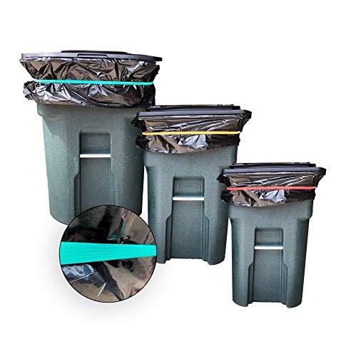 Tuffex - Bolsas de basura para bolsas de basura de forma rápida y fácil de asegurar el forro de la basura a la cesta de basura, para barbacoa, también para cajas de mudanza y envío