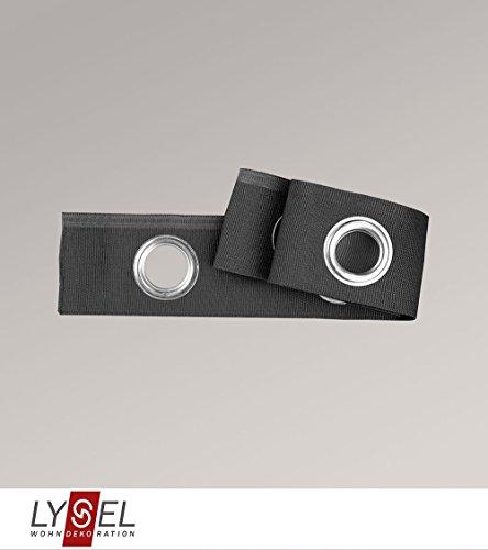 LYSEL Ösenband in grau H 6cm (1 lfm)