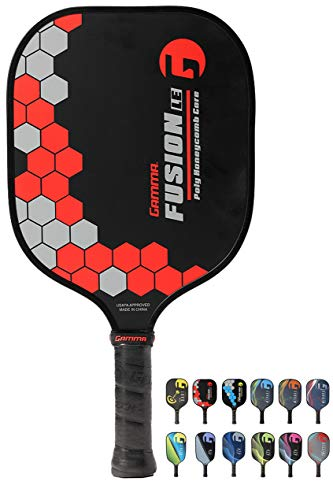 Gamma Sports Pickleball Paddles: Fusion LE Pickleball Rackets - Textured Fiberglass Face - Mens and Womens Pickle Ball Racquet - Indoor and Outdoor Racket - 8 oz