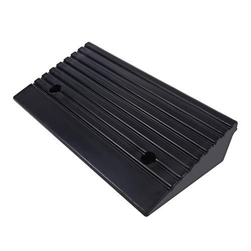 2 Piezas Rampas de Bordillo de Goma Portátiles para Rampa de Umbral de Silla de Ruedas de Moto de Coche 48,7 x 24 x 10 cm