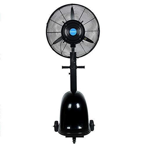 """Ventiladores ZR- 30"""" Industrial, Añadir Agua para Enfriar, Eléctrico Pie Alta Potencia, 160-200Cm Altura Regulable, 41L, 350W (Color : Black)"""