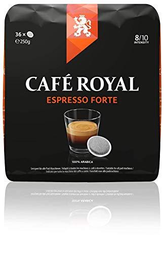 Café Royal Espresso Forte 360 kompatible Kaffeepads für Senseo®*, Intensität 8/10, 10er Pack (10 x 36 Kaffeepads)