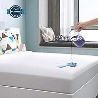 Yoofoss Protector de Colchón Impermeable Cubrecolchón 90x190/200cm Ultra Suave y Transpirable 100% Tencel Hipoalergénico & Anti-Ácaros