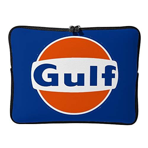 5 Größen Gulf Racing Laptoptaschen Modisch Wasserdicht - Orange Gulf Tablet Aktentasche Geeignet für Outdoor White 17 Zoll