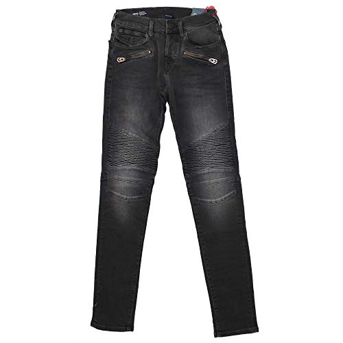 True Religion Rocco Super Denim Black Vaqueros Skinny, Negro, W29/L34 (Talla del Fabricante:) para Hombre