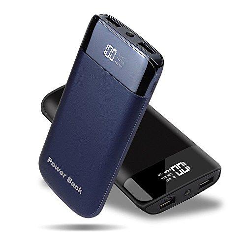 50000mAh 2USB Power Bank LED LCD External Backup Battery Charger for Smart Phone (Gem Blue)