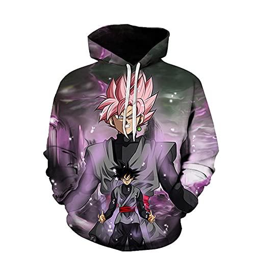 LLYTX Unisex Pullover Hoodie 3D-Druck Dragon Ball Z Langarm Monkey King Sweatshirt Frühling Herbst, Mit Pocket-02_5XL