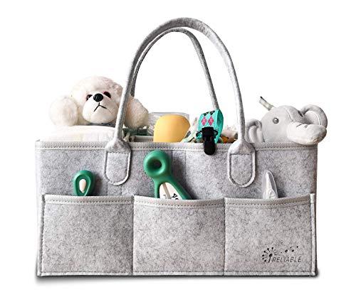 耐水仕様ダイパーストッカー ベービーアイテムストレージバッグ おもちゃ小物ケース 折りたたみ 収納 ボックス ベビー 赤ちゃん カゴ バスケット ベビー用品 収納バッグ おもちゃ 小物入れ 出産祝い(グレー)