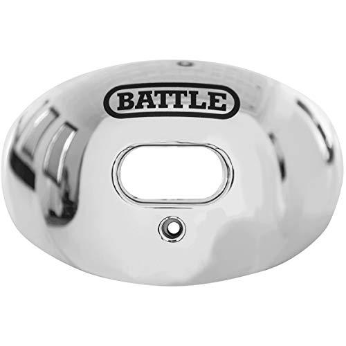 Battle Chrome Oxygen Senior Football Mouthguard (Silver)