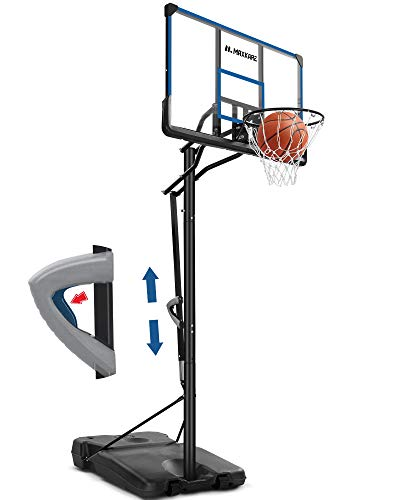 "MaxKare Basketball Hoop Portable Basketball Goal Outdoor with 48""Backboard Height Adjustable from 7ft5in-10ft Court Equipment with Wheels for Adults Kids Indoor Home Use"