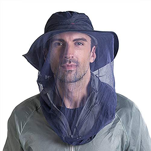 ZffXH Zanzariera Cappelli con Rete, Rete Viso, Protezione Solare Sarifi Escursionismo, Apicoltore-Navy