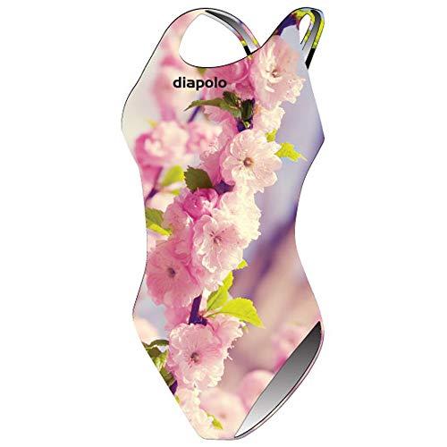 Diapolo Wild Cherry Costume da bagno dalla collezione Spring per nuoto sincronizzato Nuoto pallanuoto thriathlon, normale Träger, XL