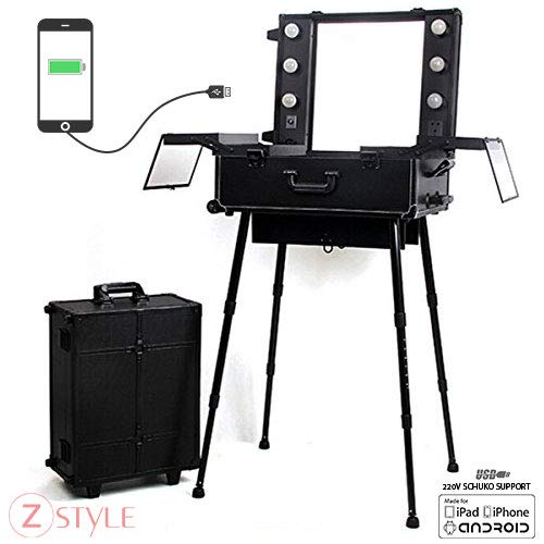 ZStyle Station Trolley Make-up spiegellampen koffer Beauty Case Nail Art
