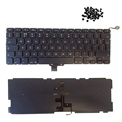 TB Replacement Laptop Keyboard For Mac-book Pro Unibody 13.3' A1278 Keyboard UK Layout (Back-light + 80pc Screws) Model Years 2009/2010 / 2011/2012 with 1 Year Warranty