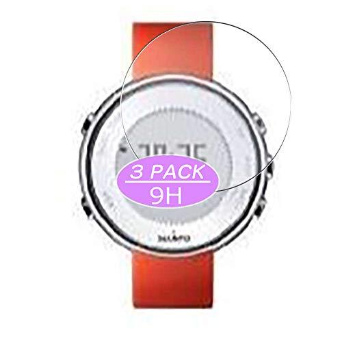 VacFun 3 Piezas Vidrio Templado Protector de Pantalla, compatible con Suunto Lumi Sportif, 9H Cristal Screen Protector Protectora Reloj Inteligente
