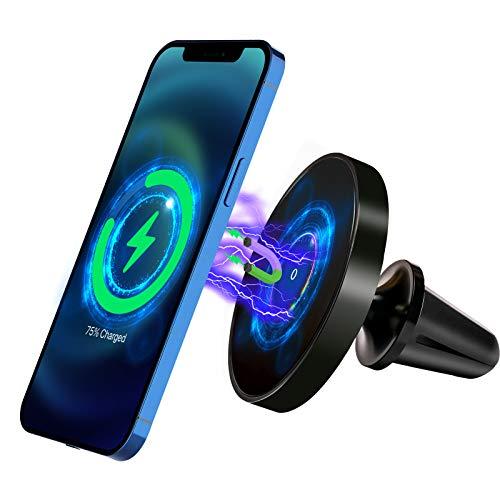LUOWAN Magnetico Auto caricatore wireless per iPhone 12, 360° con Supporto Cellulare Porta Cellulare da Auto per Presa d'Aria, Compatibile con iPhone 12/12 Pro / 12 Pro Max / 12 mini