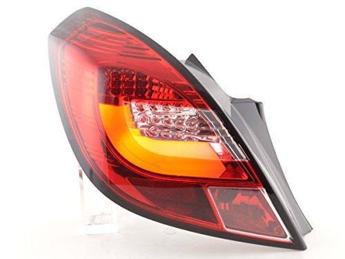 LED achterlichten set voor Opel Corsa D 3-deurs bouwjaar 06-10 lichtrood FKRLXLOP13011
