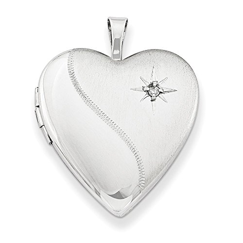 925 Sterling Silver 20mm Diamond Heart Locket Chain Necklace Pendant Charm Fine Jewellery For Women Gifts For Her
