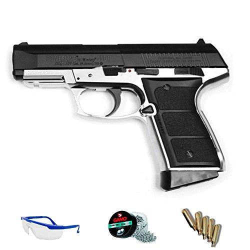 DAISY Pack Pistola de Aire comprimido 5501 Blowback - Arma de CO2 y balines BBS (perdigones de Acero) <3,5 Julios