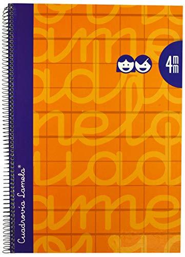 Lamela 7FTE004N - Cuaderno con espiral, tipo folio, Naranja