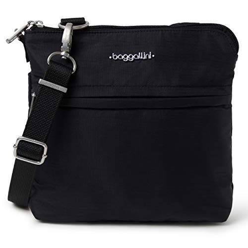 Baggallini Anti-Theft Leisure Crossbody Bag, Black