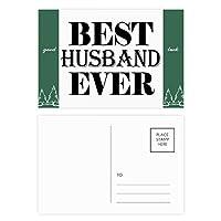 これまでに最高の夫の引用 グッドラック・ポストカードセットのカードを郵送側20個