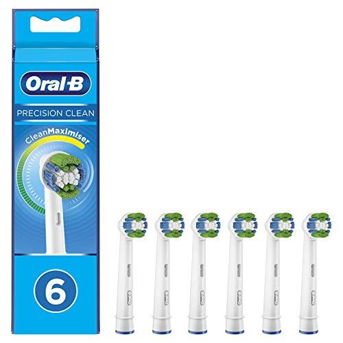 Oral-B Precision Clean Cabezal de repuesto para cepillo de dientes con tecnología CleanMaximiser, paquete de 6 unidades