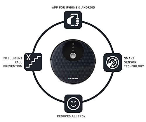 Blaupunkt XBOOST Saugroboter mit Turbo-Saugfunktion - Roboterstaubsauger für Tierharen - Staubsauger Roboter mit Bereichsabgrenzung und Anti Allergien - 7