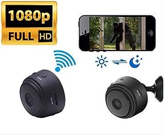 Wireless Nanny WiFi Camera HD 1080P Spy Hidden Mini Security Small Spy Equipment Home Pet USB Portable Cop Cam Body Camera Secret Covert Portable Black Security Indoor