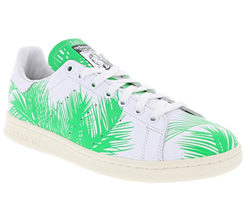 adidas Originals PW Stan Smith BBC Palm Schuhe Herren Sneaker Turnschuhe Weiß S82071, Größenauswahl:39 1/3